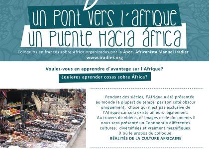 """Tertulias """"Un pont vers l'Afrique"""" 2016"""