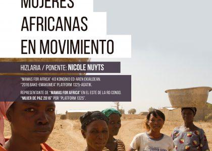 """""""Mujeres africanas en movimiento"""" Charla con Nicole Nuyts."""
