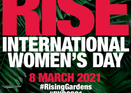 RISE: One Billion Rising Gardens Continues Through International Women's Day & Earth Day